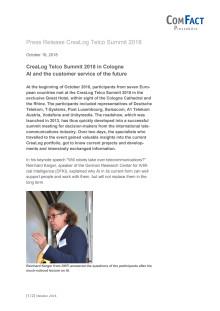 CreaLog Telco Summit 2018 - English Version