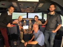 Pilotenprojekt mit Human-Factors-Consult und Boeing-Tochter Jeppesen im Flugsimulator der TH Wildau