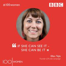 Svenska Ellen Tejle på BBC WOMEN LIST 2018
