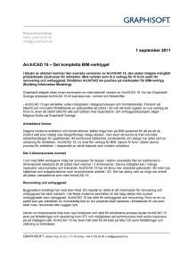 ArchiCAD 15 – Det kompletta BIM-verktyget