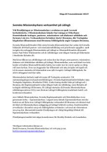 Svenska Missionskyrkans verksamhet på Lidingö
