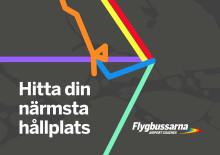 Flygbussarnas nya digitala tjänst - hitta närmsta hållplats