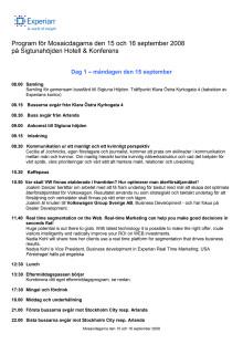 Program för Mosaicdagarna 2008
