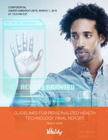 Guidelines for Personalised Health Technologies Released