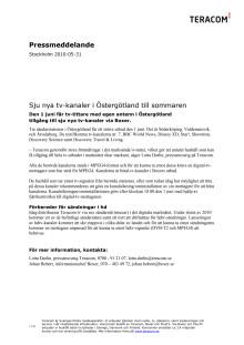 Sju nya tv-kanaler i Östergötland till sommaren