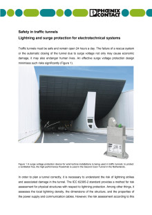 Safety in traffic tunnels- Lightning and surge protection for electrotechnical systems