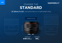 Lysstærkt autofokusobjektiv til Canon