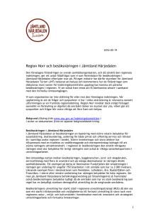Besöksnäringens synpunkter angående Region Norr