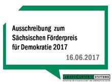 Ausschreibung  zum Sächsischen Förderpreis für Demokratie 2017