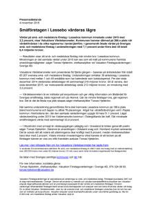 Värdebarometern 2015 Lessebos kommun