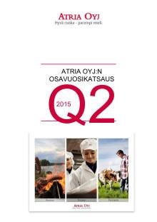 Atria Oyj:n osavuosikatsaus Q2 2015