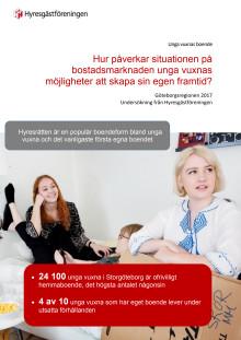 Hur bor unga vuxna - hur vill de bo? Göteborgsregionen 2017