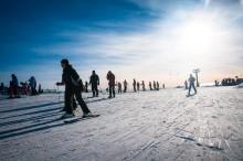 SkiStar Sälen: Många åkare i skidbacken i Sälen under Vasaloppsveckan