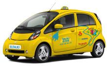 Sveriges första eltaxi lanseras av Taxi 020, Mitsubishi, Scandic och Swedavia