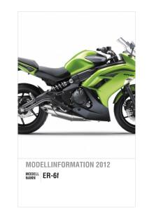 Kawasaki Modellinformation 2012 ER-6f