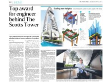 Top award for engineer behind The Scotts Tower