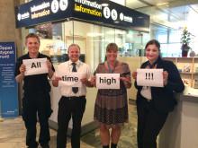 """""""All time high"""" för flygtrafiken på Landvetter i juni"""