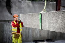 Hurtigbygging av verksted i veggelement