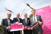 Full steam ahead in Leicestershire thanks to multi-million pound broadband extension