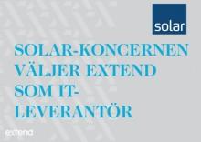 Solar-Koncernen väljer Extend som IT-leverantör av avancerade logistiklösningar