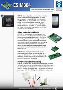 ESIM364 larm och övervakning via SMS