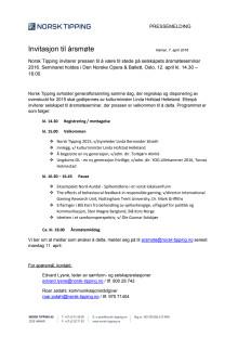 Presseinvitasjon til årsmøte