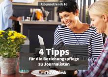 4 Tipps für die Beziehungspflege zu Journalisten