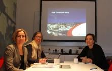 Riksdagsledamot på besök hos Övik Energi för att diskutera fibernätets roll