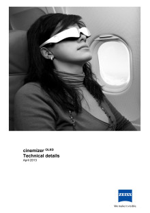 Zeiss Cinemizer OLED technical datasheet