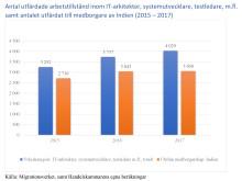 Indier dominerar bland arbetskraftsinvandrare i flera högkvalificerade yrkesgrupper