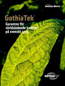 GothiaTek - garanten för världsledande kvalitet på svenskt snus