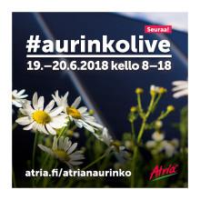Atria lähettää Aurinkoliveä 19.–20.6.2018