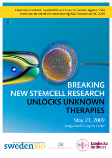 Breaking New Stemcell Research Unlocks Unknown Therapies - Session at BIO2009 Atlanta