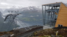 Unik gondolbane fra fjord til høyfjell