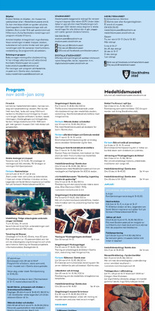 Stadsmuseets och Medeltidsmuseets program hösten 2018/vintern 2019