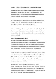 Ojämlik hälsa i Stockholms län – fakta om rökning