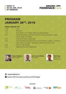 Program Greater CPH Food Hack  26 - 28 jan 2018