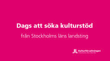 Dags för kulturorganisationer att söka landstingets Scenkonststöd för läsåret 2018/2019