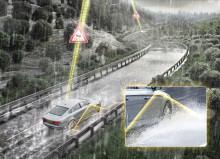 I fremtiden vil bilen advare mot vannplaning
