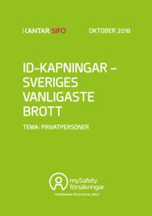 ID-kapningar - Sveriges vanligaste brott. Tema privatpersoner 2018