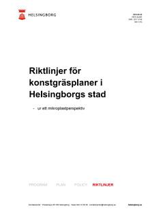 Riktlinjer för konstgräsplaner i Helsingborgs stad