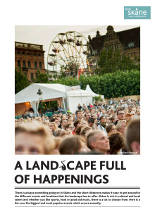 PRESSINFO: A landscape full of happenings
