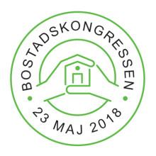 Påminnelse: Välkommen till Bostadskongressen 2018 – Sveriges arena för bostadspolitik