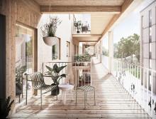 Krook & Tjäder ritar bostadskvarter i trä