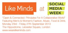 More amazing speakers for Like Minds at Social Media Week