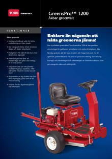Åkbar greenvält Toro GreensPro1200