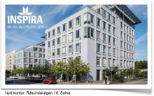 Inspiras huvudkontor flyttar 1 februari 2018