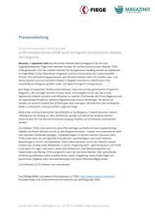 Pressemitteilung FIEGE kauft Magazino Roboter