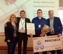 Årets Hållbaraste Golvkedjeföretag 2019 är KVM i Norrköping