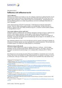 Bakgrundsmaterial influensa och influensavaccin